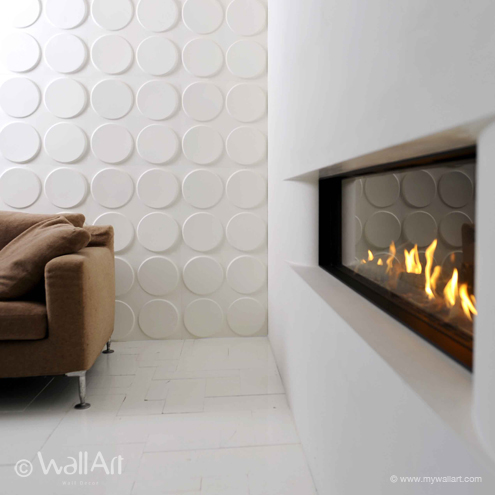 Ellipses - Interior 3D Wall Tiles by WallArt