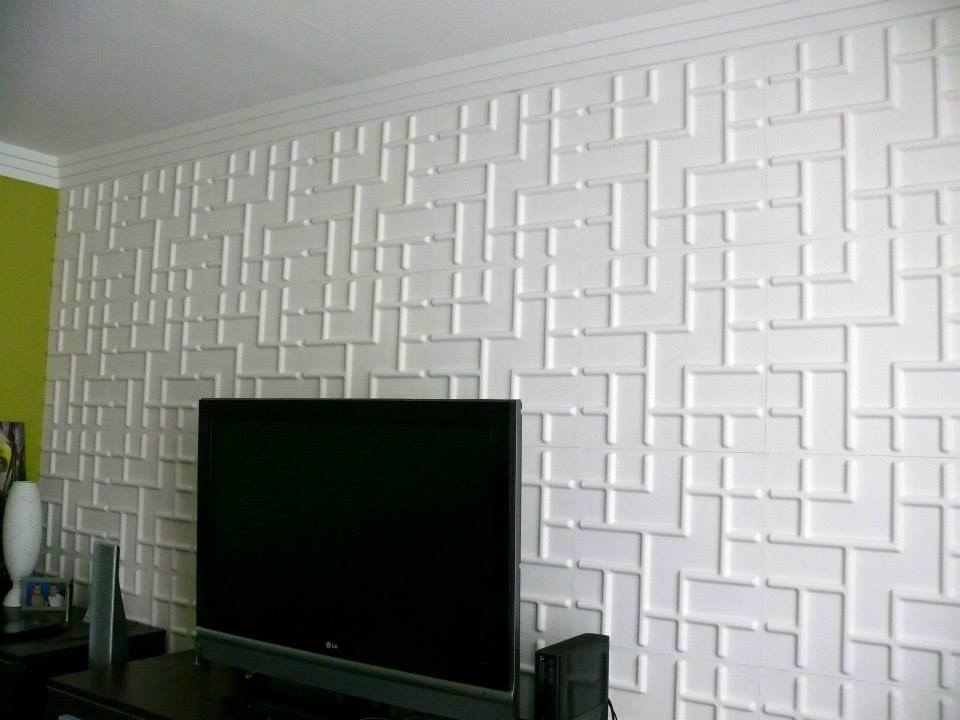 27 Sq.ft. of 3d Glue-on Wall Panels By Threedwall.com - Wallpaper -  Amazon.com