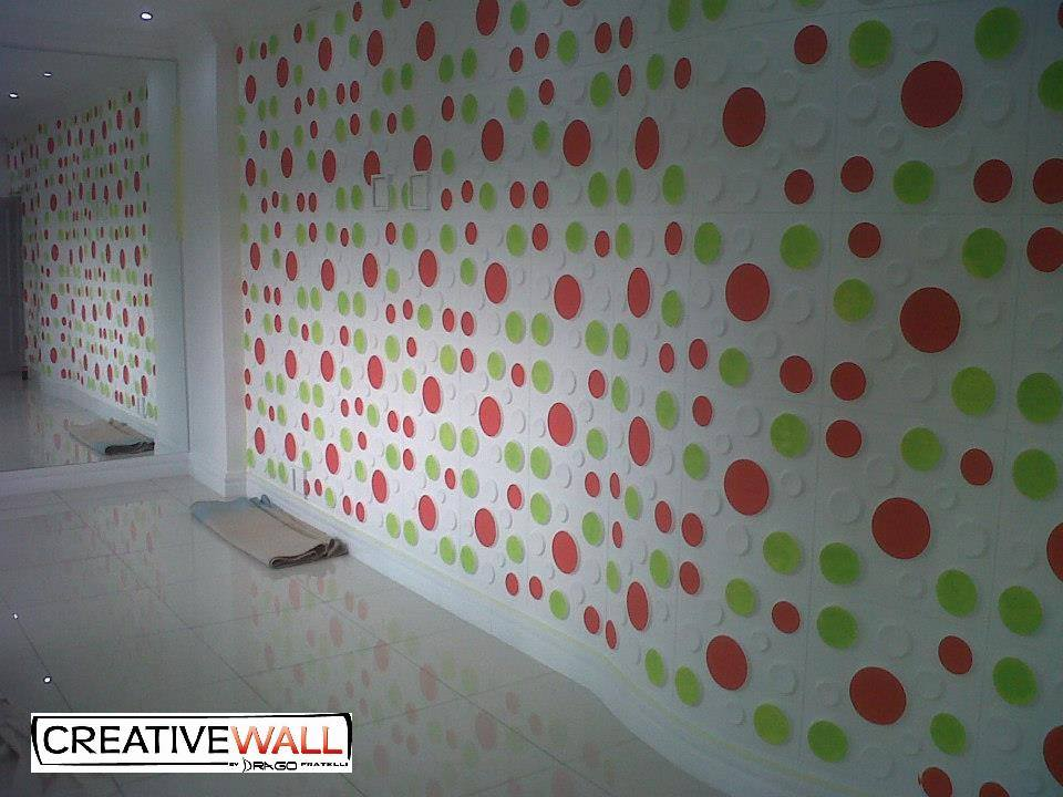 3D Wall Panels - Craters Design