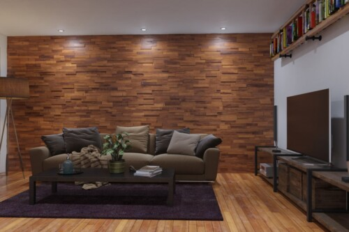 Popular Teak Wood Wall Paneling - Interior Wood Wall Panels by WallDecor3D UM65