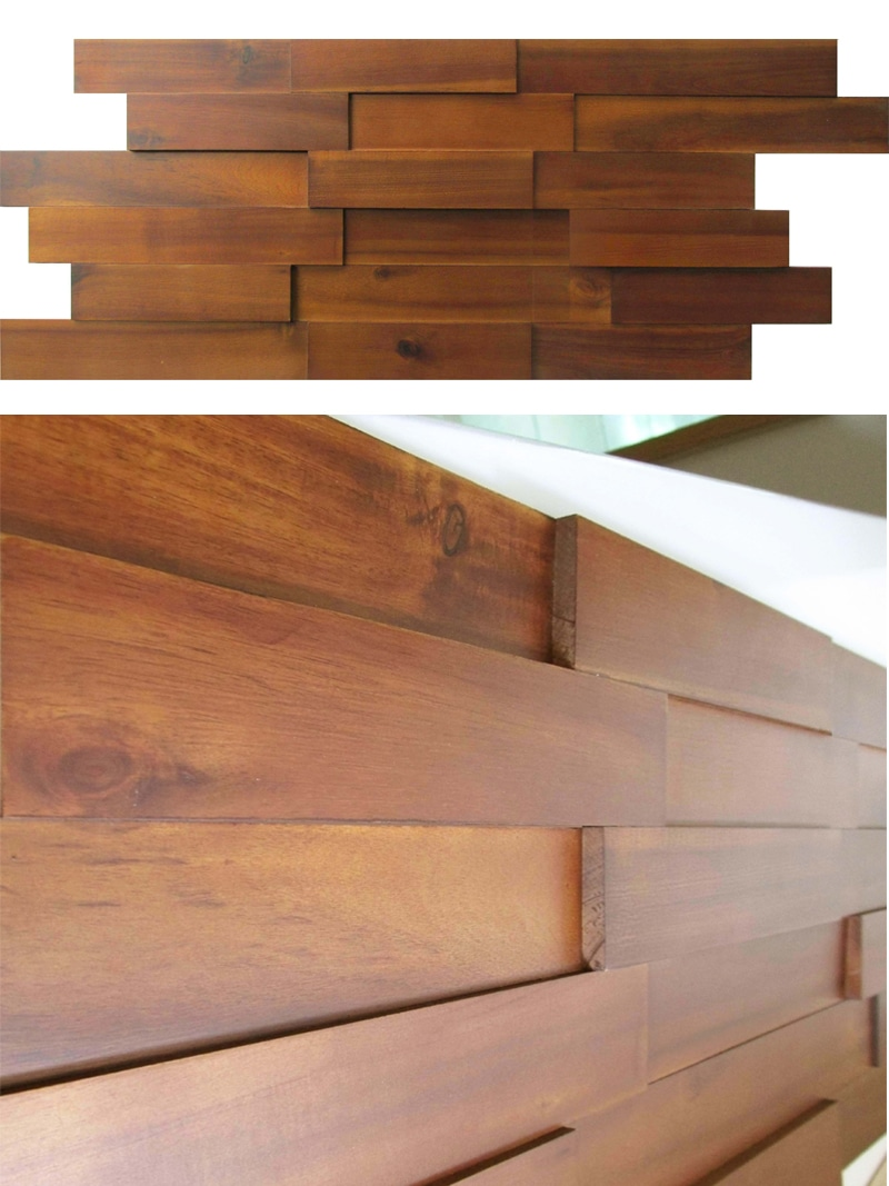 Acacia Wood Paneling Mosaic Interior 3d Mosaic Wood Wall