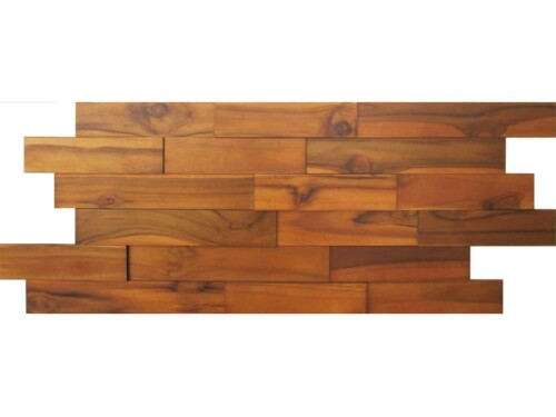Preferred Teak Wood Wall Paneling - Interior Wood Wall Panels by WallDecor3D WZ56