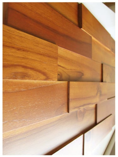 Very Teak Wood Wall Paneling - Interior Wood Wall Panels by WallDecor3D OU89