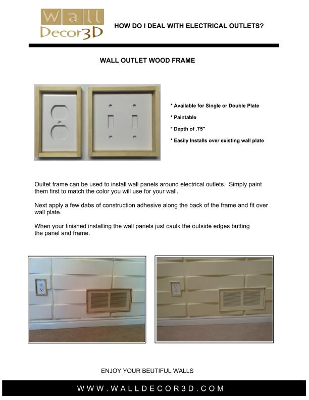 Wall Outlet Frame