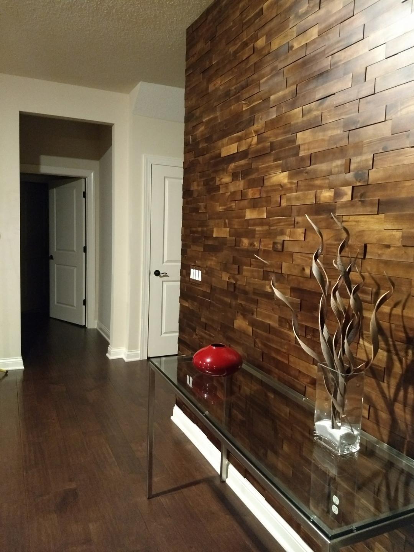 Wood Wall Paneling: Interior 3D Mosaic Wood Wall