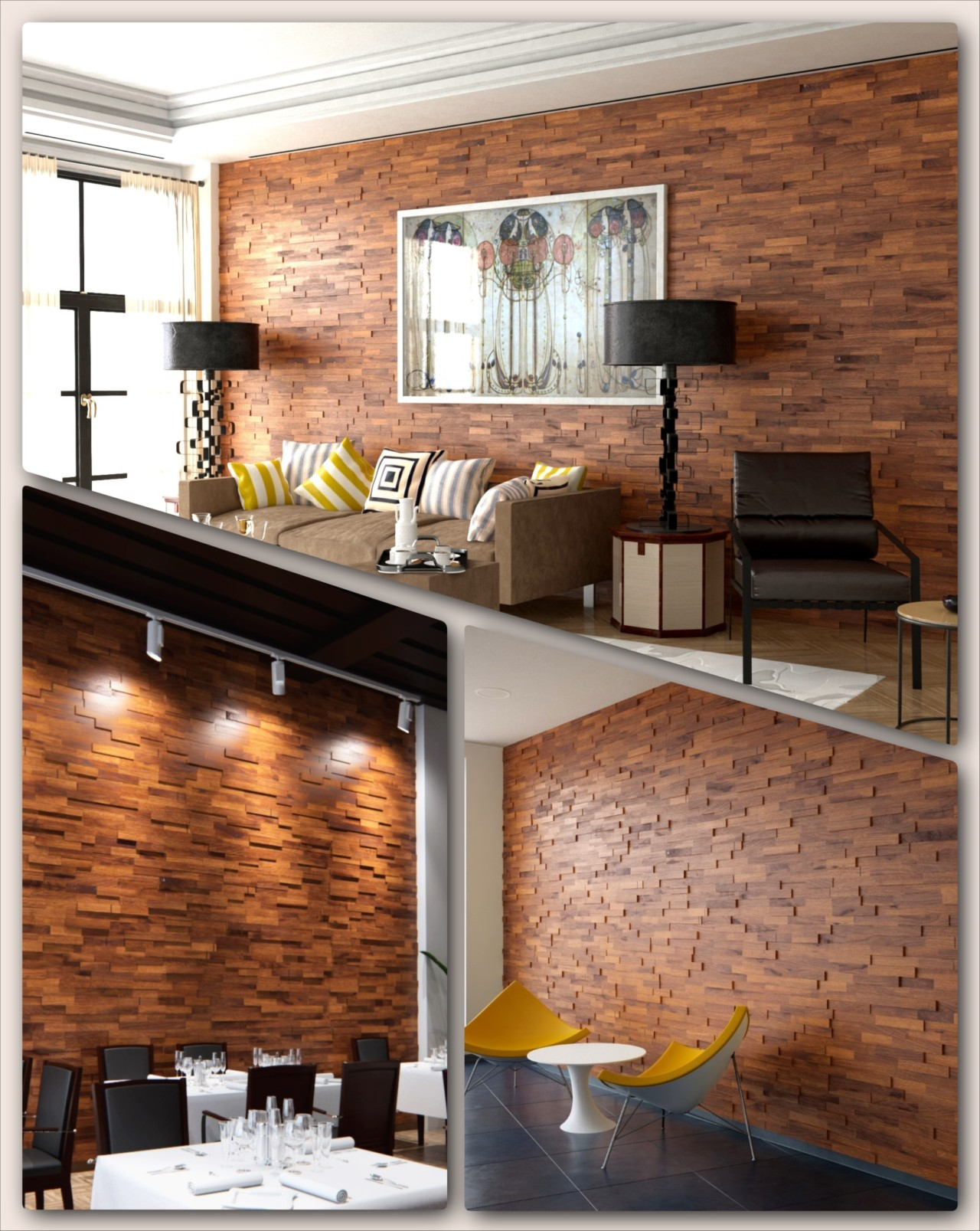 Interior Wood Paneling: Teak Real Wood Panels For Interior Walls