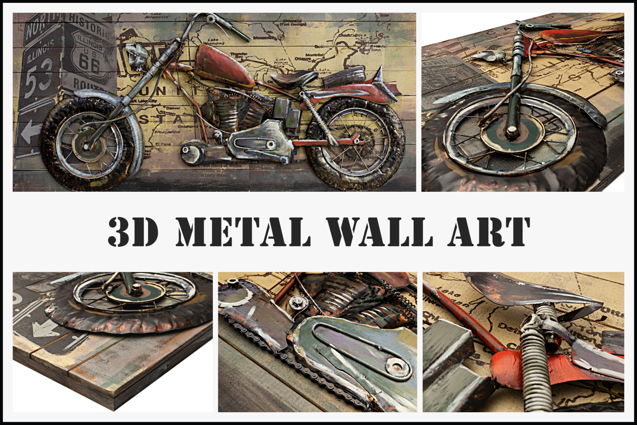 3D Metal Wall Art