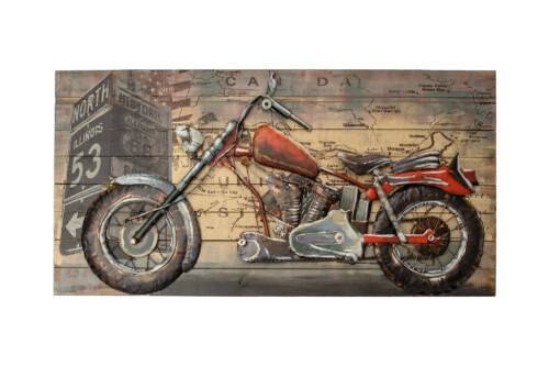 3D metal wall art motorcycle