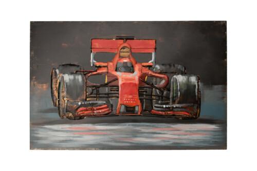 race car 3d metal wall art