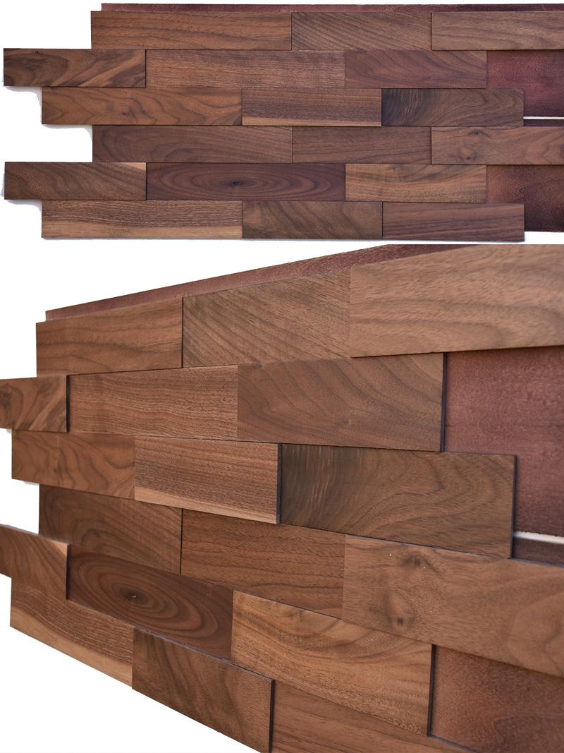 American Walnut Wood Paneling-w01