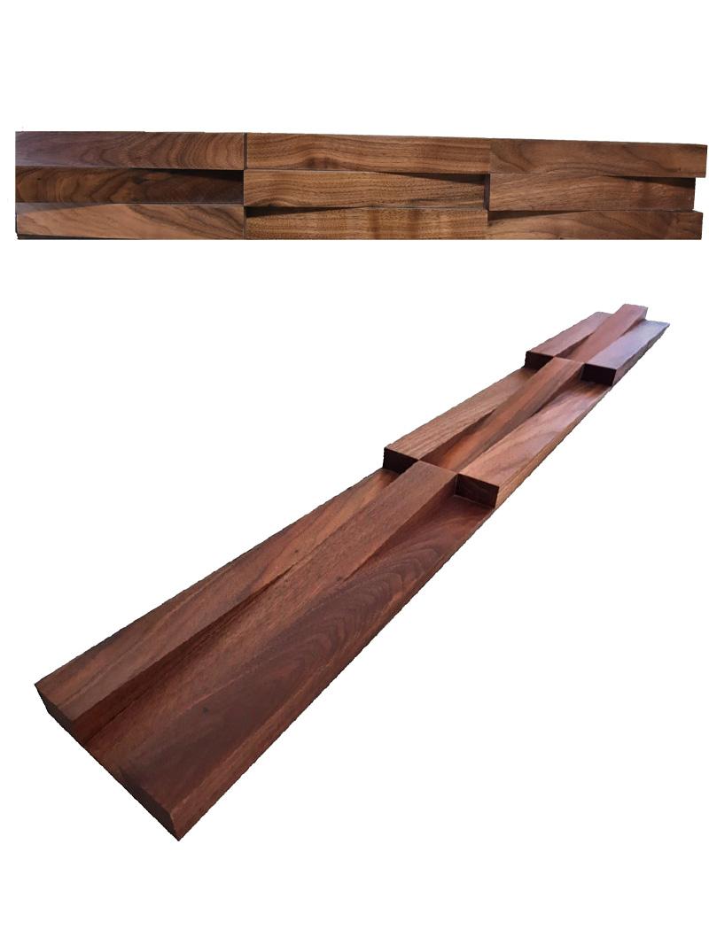 American Walnut Wood Panel-wedge W33