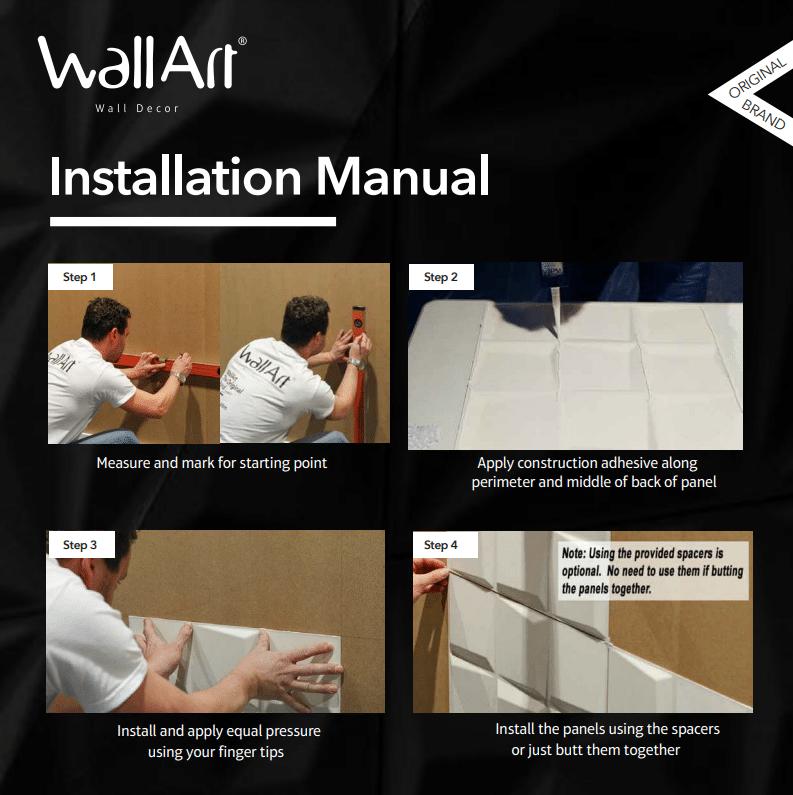 WallArt Installation Instructions