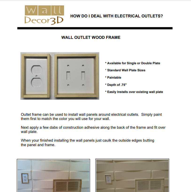 How to deal with wall Outlets