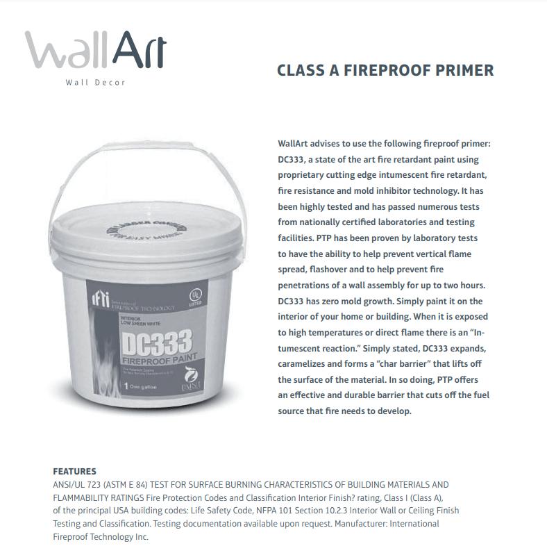 Class A Fire Retardant Primer